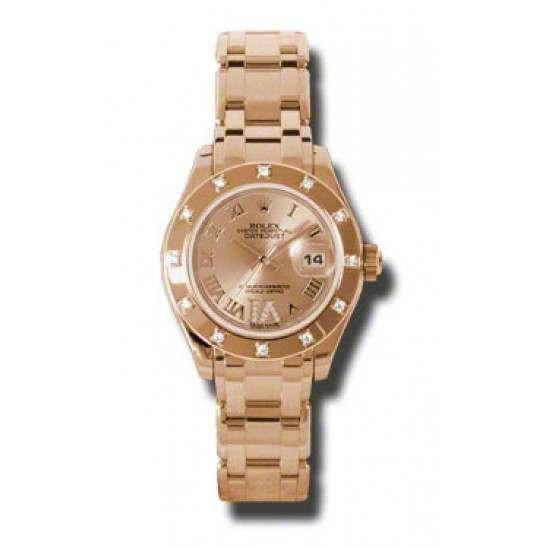 Rolex Lady Pearlmaster Pink Roman 80315