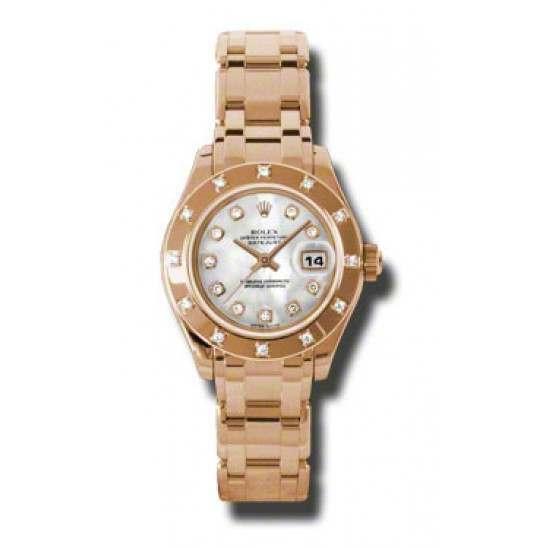 Rolex Lady Pearlmaster White mop/diamond 80315
