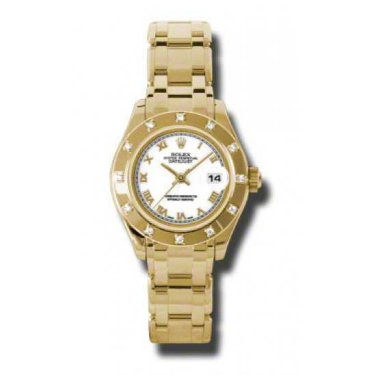 Rolex Lady Pearlmaster White Roman 80318