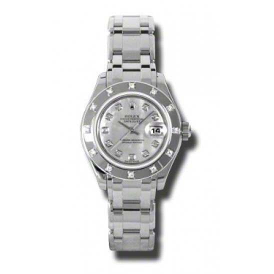 Rolex Lady Pearlmaster White mop/diamond 80319