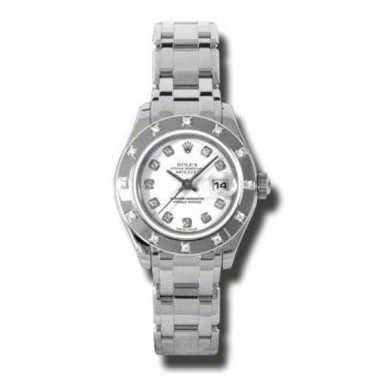 Rolex Lady Pearlmaster White/diamond 80319