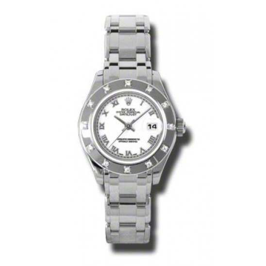 Rolex Lady Pearlmaster White Roman 80319