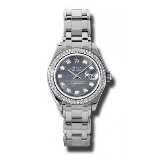 Rolex Lady Pearlmaster Black mop/diamond 80319