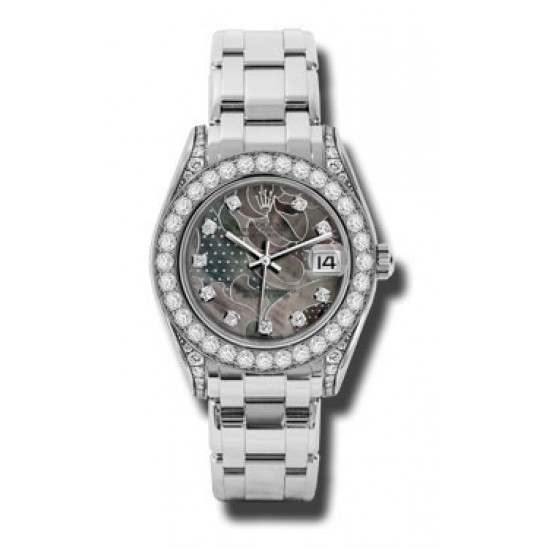 Rolex Pearlmaster 34mm White Gold Goldust Dream diamond 81159