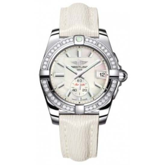 Breitling Galactic 36 (Polished Steel/ Diamonds) Caliber 37 Automatic A3733053.A716.236X