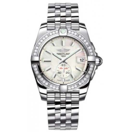 Breitling Galactic 36 (Polished Steel/ Diamonds) Caliber 37 Automatic A3733053.A716.376A
