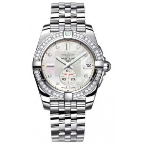 Breitling Galactic 36 (Polished Steel/ Diamonds) Caliber 37 Automatic A3733053.A717.376A