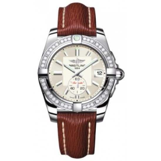 Breitling Galactic 36 (Polished Steel/ Diamonds) Caliber 37 Automatic A3733053.G706.216X