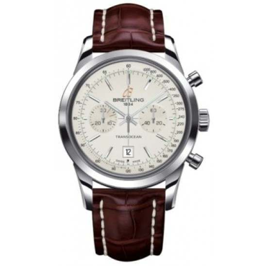 Breitling Transocean Chronograph 38 Caliber 41 Automatic A4131012G757724P