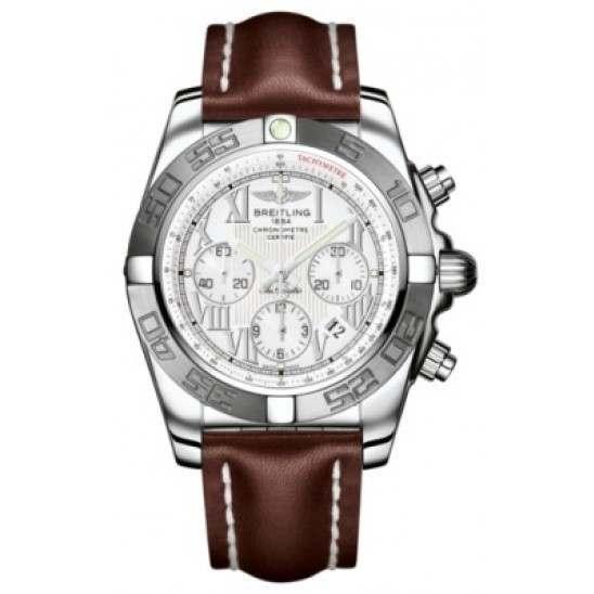 Breitling Chronomat 44 (Polished & Satin) Caliber 01 Automatic Chronograph AB011011.A690.437X