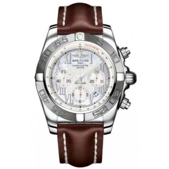 Breitling Chronomat 44 (Polished & Satin) Caliber 01 Automatic Chronograph AB011011.A691.437X