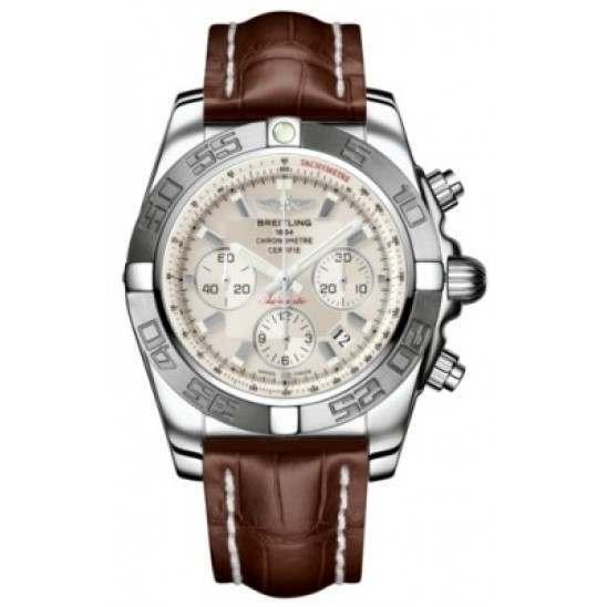 Breitling Chronomat 44 (Polished & Satin) Caliber 01 Automatic Chronograph AB011011.G684.739P