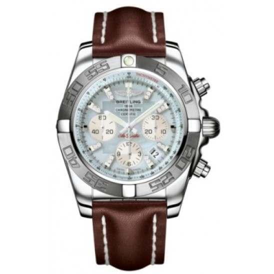 Breitling Chronomat 44 (Polished & Satin) Caliber 01 Automatic Chronograph AB011011.G686.437X