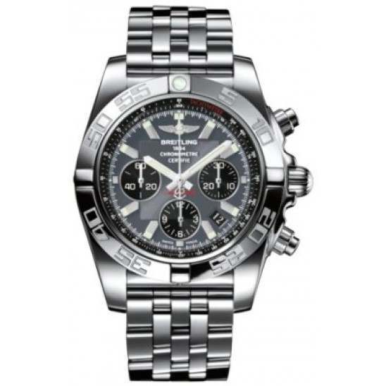 Breitling Chronomat 44 Polished Caliber 01 Automatic Chronograph AB011012F546375A