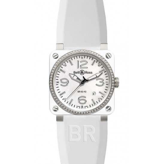 Bell & Ross BR 03-92 White Ceramic BR0392-WH-C-D/SRB