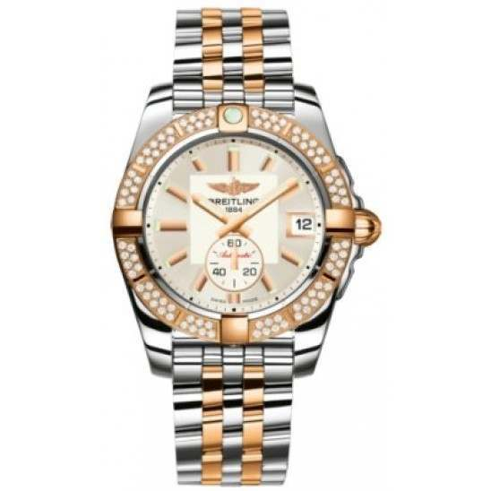 Breitling Galactic 36 (Steel & Rose Gold/ Diamonds) Caliber 37 Automatic C3733053.G714.376C