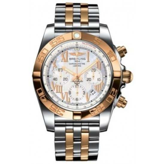 Breitling Chronomat 44 (Steel & Gold) Caliber 01 Automatic Chronograph CB011012.A693.375C