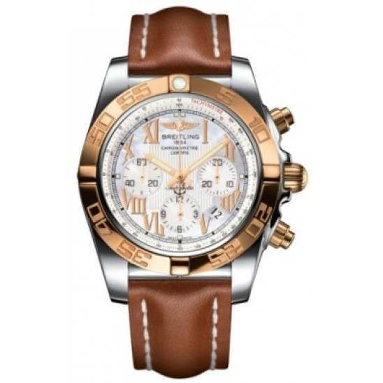Breitling Chronomat 44 (Steel & Gold) Caliber 01 Automatic Chronograph CB011012.A693.433X