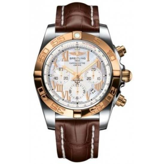 Breitling Chronomat 44 (Steel & Gold) Caliber 01 Automatic Chronograph CB011012.A693.739P