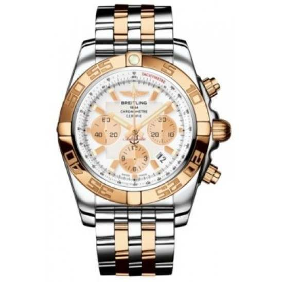 Breitling Chronomat 44 (Steel & Gold) Caliber 01 Automatic Chronograph CB011012.A696.375C