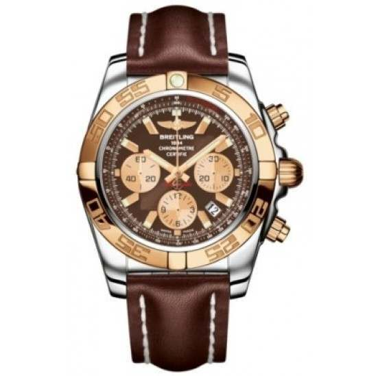 Breitling Chronomat 44 (Steel & Gold) Caliber 01 Automatic Chronograph CB011012.Q576.437X