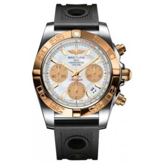 Breitling Chronomat 41 (Steel & Gold) Caliber 01 Automatic Chronograph CB014012.A722.202S