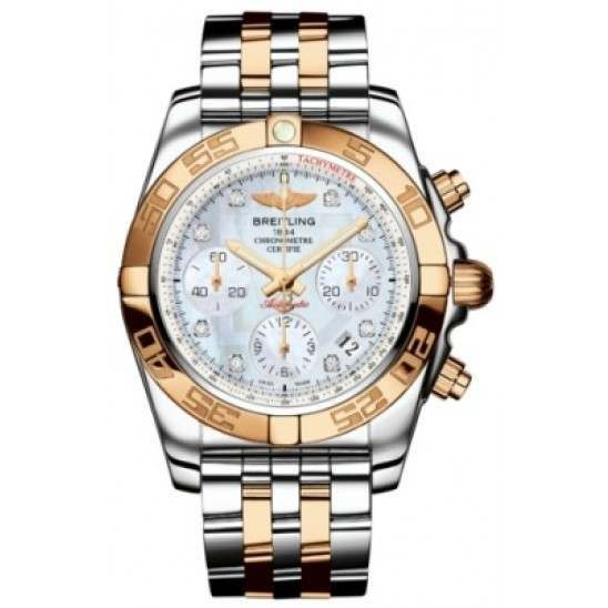Breitling Chronomat 41 (Steel & Gold) Caliber 01 Automatic Chronograph CB014012.A723.378C