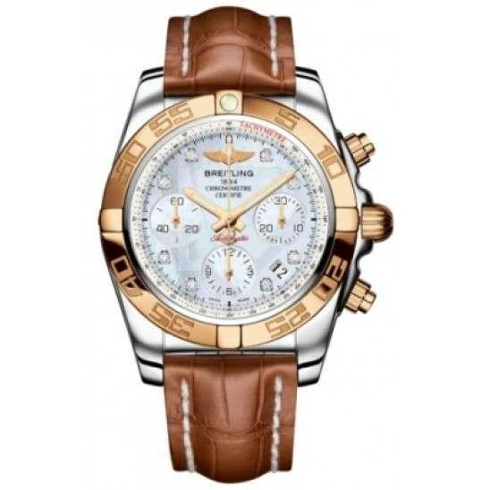 Breitling Chronomat 41 (Steel & Gold) Caliber 01 Automatic Chronograph CB014012.A723.722P