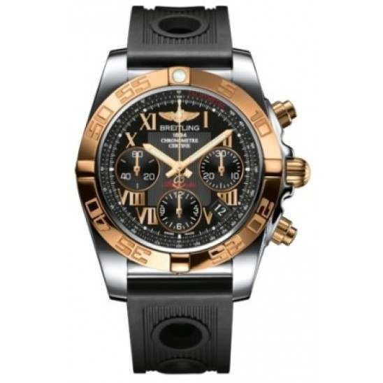 Breitling Chronomat 41 (Steel & Gold) Caliber 01 Automatic Chronograph CB014012.BC08.202S