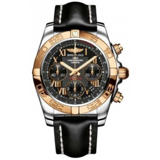 Breitling Chronomat 41 (Steel & Gold) Caliber 01 Automatic Chronograph CB014012.BC08.428X