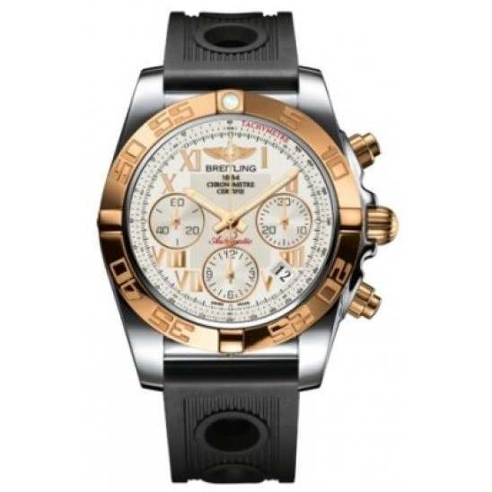 Breitling Chronomat 41 (Steel & Gold) Caliber 01 Automatic Chronograph CB014012.G759.202S