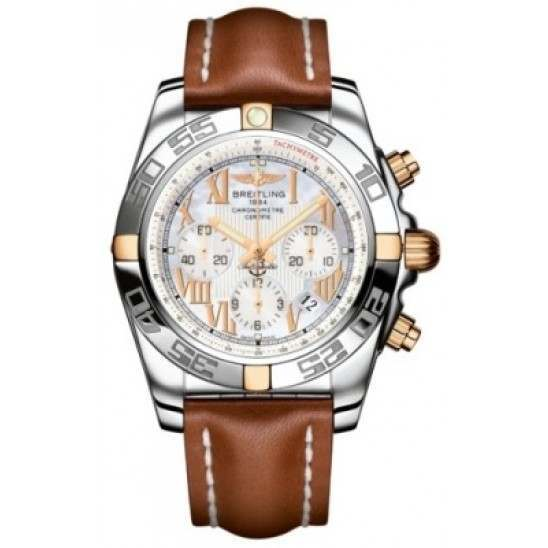 Breitling Chronomat 44 (Two-Tone) Caliber 01 Automatic Chronograph IB011012.A693.433X