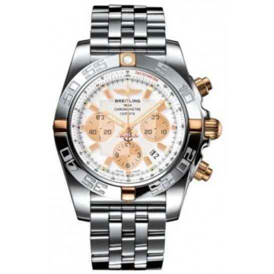 Breitling Chronomat 44 (Two-Tone) Caliber 01 Automatic Chronograph IB011012.A696.375A