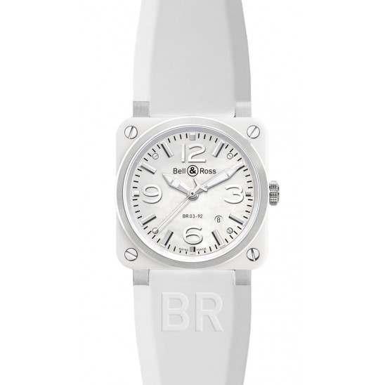 Bell & Ross BR 03-92 White Ceramic BR0392-WH-C/SRB