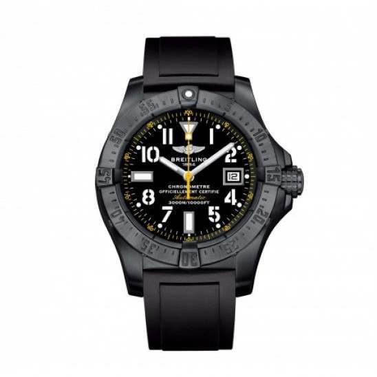 Breitling Avenger Seawolf Blacksteel Code Yellow Watch M17330B2 BC05 131S