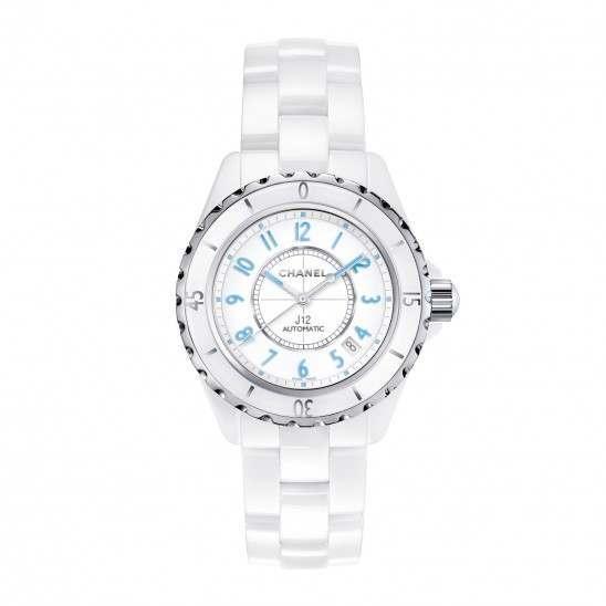 Chanel J12 White Blue Light H3827