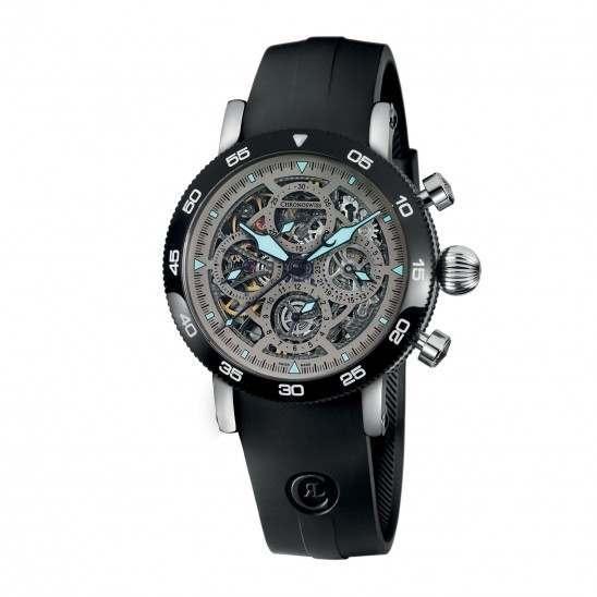 Chronoswiss Timemaster Chronograph Skeleton Steel CH-9043SB-SI