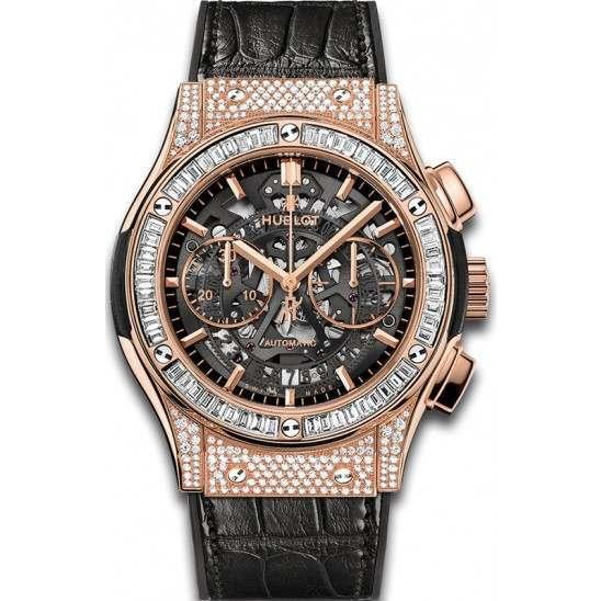 Hublot Aero King Gold Diamonds Pave 525.OX.0180.LR.1704