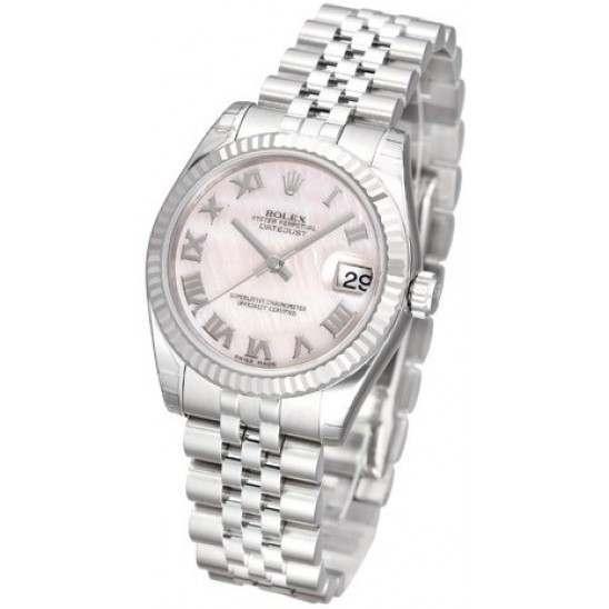 Rolex Lady Datejust 31mm Pink mop Roman Jubilee 178274