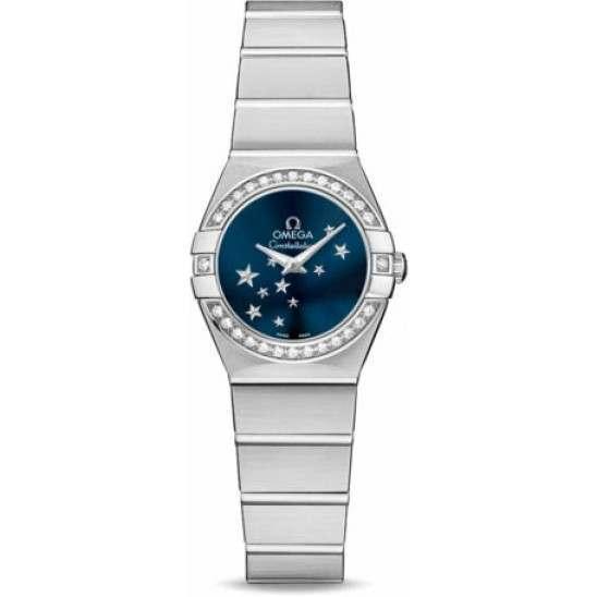 Omega Constellation Brushed Quartz Diamonds 123.15.24.60.03.001