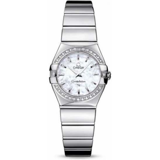 Omega Constellation Polished Quartz Diamonds 123.15.24.60.05.002