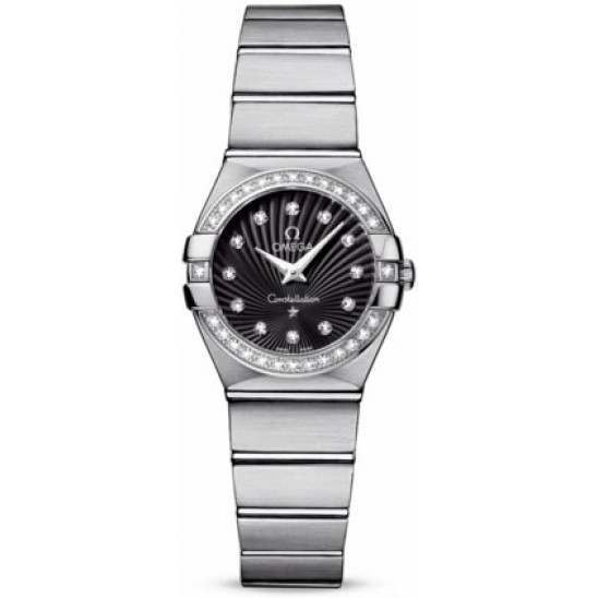 Omega Constellation Brushed Quartz Diamonds 123.15.24.60.51.001