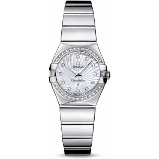 Omega Constellation Polished Quartz Diamonds 123.15.24.60.55.004