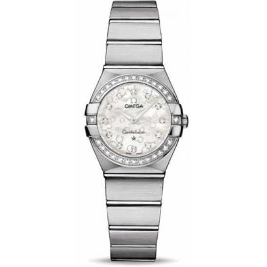 Omega Constellation Brushed Quartz Diamonds 123.15.24.60.55.005