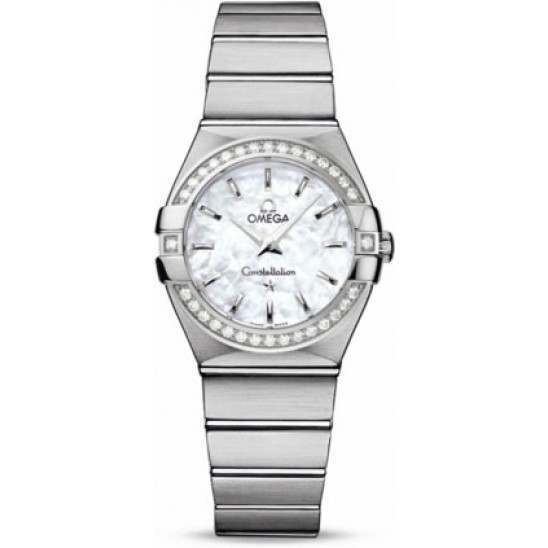 Omega Constellation Brushed Quartz Diamonds 123.15.27.60.05.001