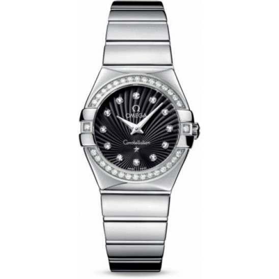 Omega Constellation Polished Quartz Diamonds 123.15.27.60.51.002