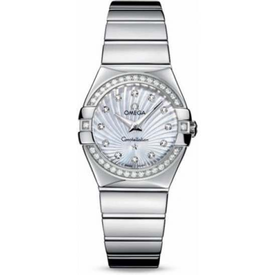 Omega Constellation Polished Quartz Diamonds 123.15.27.60.55.004