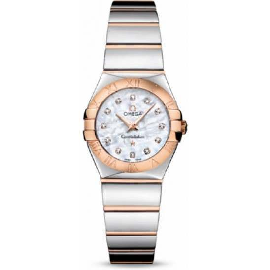 Omega Constellation Polished Quartz Diamonds 123.20.24.60.55.003