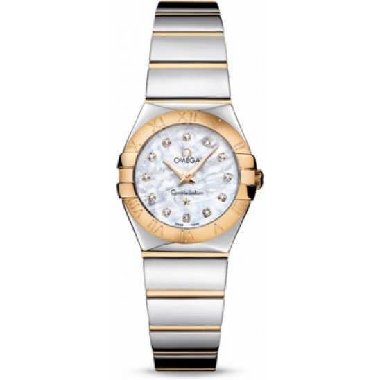 Omega Constellation Polished Quartz Diamonds 123.20.24.60.55.004