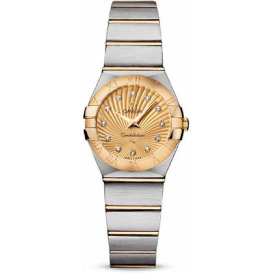 Omega Constellation Brushed Quartz Diamonds 123.20.24.60.58.001